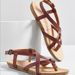 Size 8.5 Brown Sandals